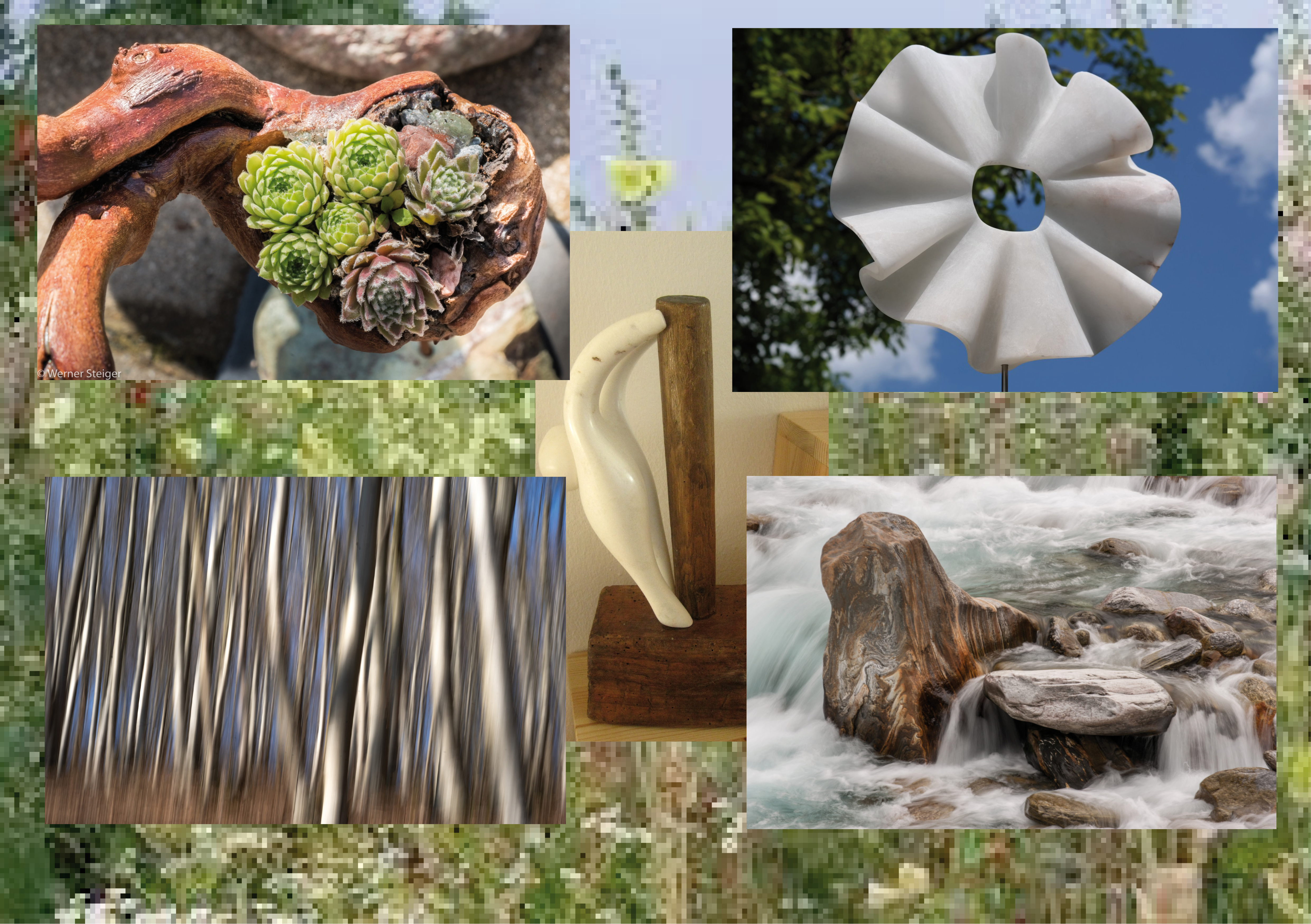 Bild und Skulptur in der Natur...Ausstellung im Garten Amerswil AG